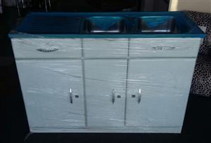 Brand New Double Sink Kitchen Cupboard