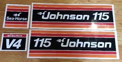1981 Johnson 115 V4 outboard motor decals stickers vinyl cut graphics kits