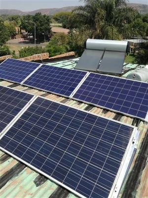 Solar electricity installations