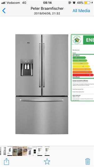 AEG French door fridge for sale