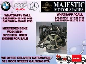 Mercedes benz W204 m651 engine for sale used