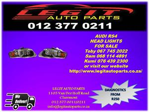 Legit Auto Parts we are Currently  Selling  AUDI RS4 HEAD LIGHTS   FOR SALE