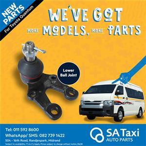 NEW Lower Ball Joint suitable for Toyota Quantum - SA Taxi Auto Parts quality spares