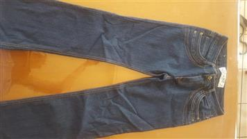 Dark blue bootleg jeans for sale