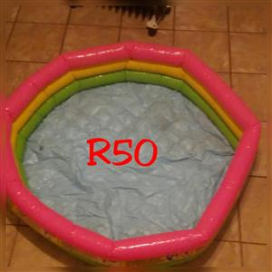 Kiddies inflatable pool