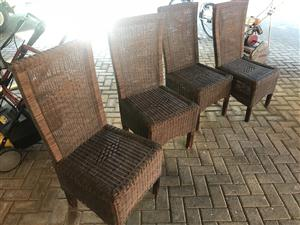 4 patio wicker chairs