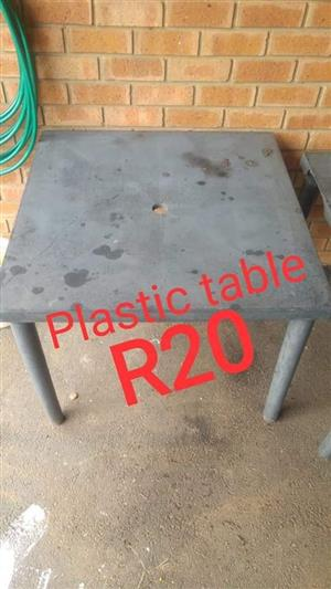 Plastic grey table for sale