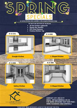 Specials!! Specials!! on Kitchen and Bedroom Wall Units
