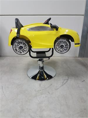 Yellow Kiddies Car Styling Chair