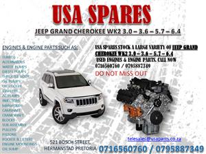 JEEP GRAND CHEROKEE WK2 3.0 – 3.6 – 5.7 -6.4 ENGINES AND ENGINE PARTS