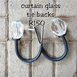 Curtain glass tie backs for sale
