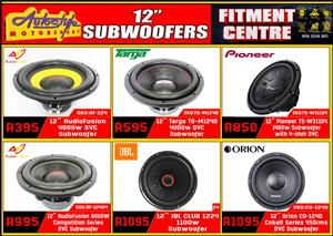 12 Inch Subwoofers widest range car audio and sound accesories