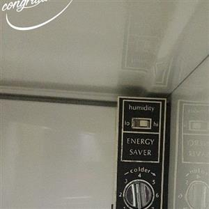 Speed queen side by side fridge freezer combi with water and ice dispenser