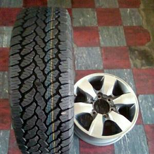 Toyota rim and tyre for a spare wheel
