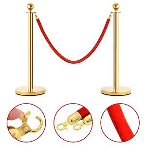 Round Top Stanchion –Rose Gold, Gold and Silver (Velvet and Twisted  ropes sold separately)