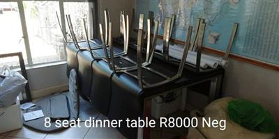 8 Seater dinner table set for sale