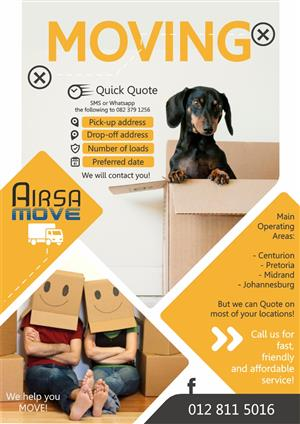 Moving? We can help!!