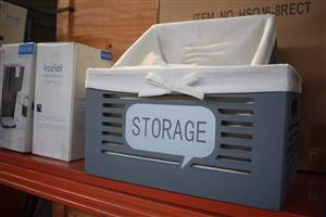 Grey storage crate for sale