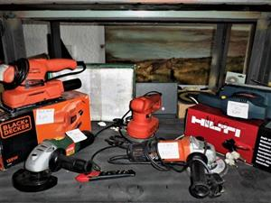 Black and decker and hilti tool combo