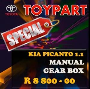 KIA Picanto & KIA Soul gearboxes, engines & spares - TOYPART SA