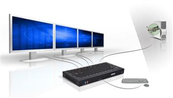 Matrox Extio F2408 Expander  KVM Quad Monitor Graphics Extender PCI Fiber-Optic Card REQUIRED