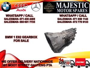 Bmw 1 series E82 gearbox for sale