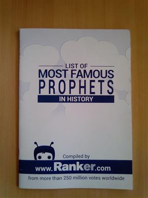 """""""List of Most Famous Prophets in History"""" Magazine."""