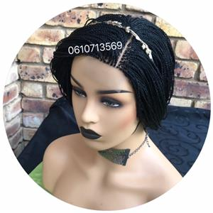 NEAT 18 INCH TWIST  LACE FRONT WIG WITH MIDDLE PART AND SIDE PART OPTION