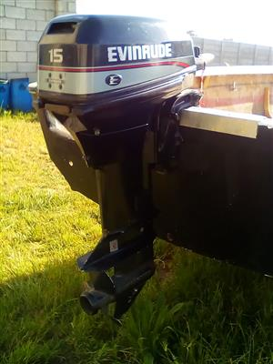 BARGAIN!!! 15 HP EVENRUDE OUTBOARD