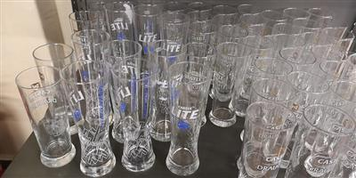 Castle light draught glasses