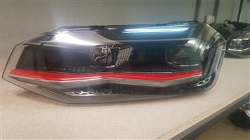 POLO 8 HEADLIGHTS RED LINE FOR SALE