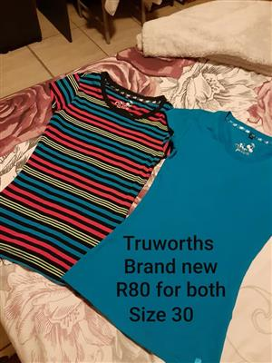 Truworths blue and striped shirts for sale