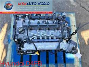 Imported used HYUNDAI ELANTRA/CERATO 1.6L DIESEL, D4FB, Complete second hand used engine