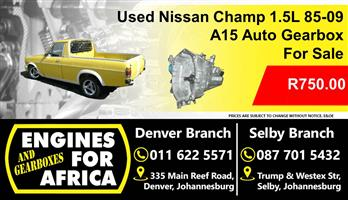 Used Nissan Champ 1.5L 85-09 A15 Auto Gearbox For Sale