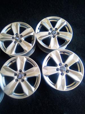 15 inch Audi mags with 5x100 pcd can also fit on a polo vivo and TSI