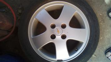 Two Silver Mags with tyres for sale