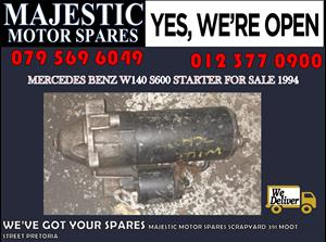 Mercedes benz w140 s600 used starter for sale