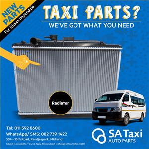 New Radiator for Nissan NV350 Impendulo - SA Taxi Auto Parts quality Taxi spares