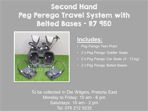 Second Hand Peg Perego Travel System with Belted Bases