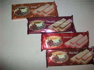 London's bakers flavoured creme wafers