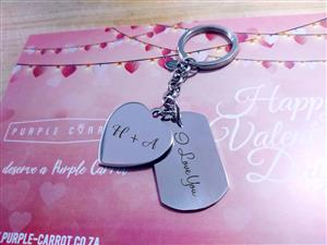 Stainless Steel Drive Safe Keychain in English
