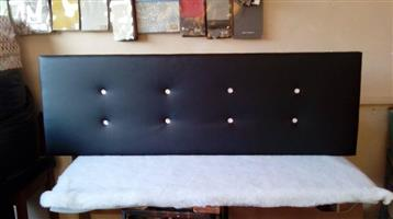 Black and white headboard