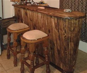 Bar with two bar stools