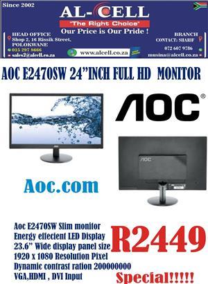 AOC E2470SWH 24″ Inch Full HD Monitor