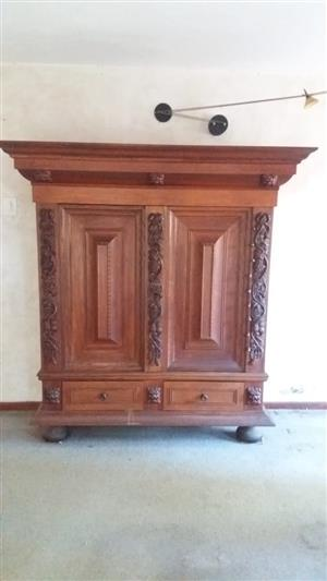 Old, Ornate Dining room cabinet for sale
