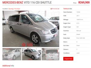 2011 Mercedes Benz Vito 116 CDI crewbus Shuttle