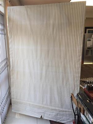 Large Cream with black stripe Roman Blind - 4 available - Price per blind