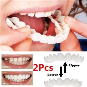 Look Like A Hollywood Star - Reusable Adult Snap On Perfect Smile Whitening Denture Veneer