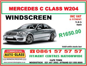 Mercedes C-Class W204 - Commercial Auto Glass Windscreen Special