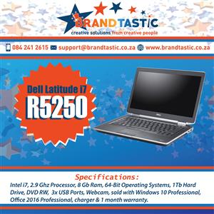 Blazing Fast i7! Dell Latitude Ideal for Gaming @ R5250